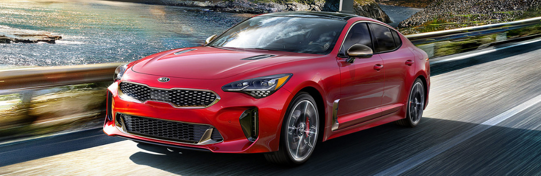 2019 Kia Stinger driving outside