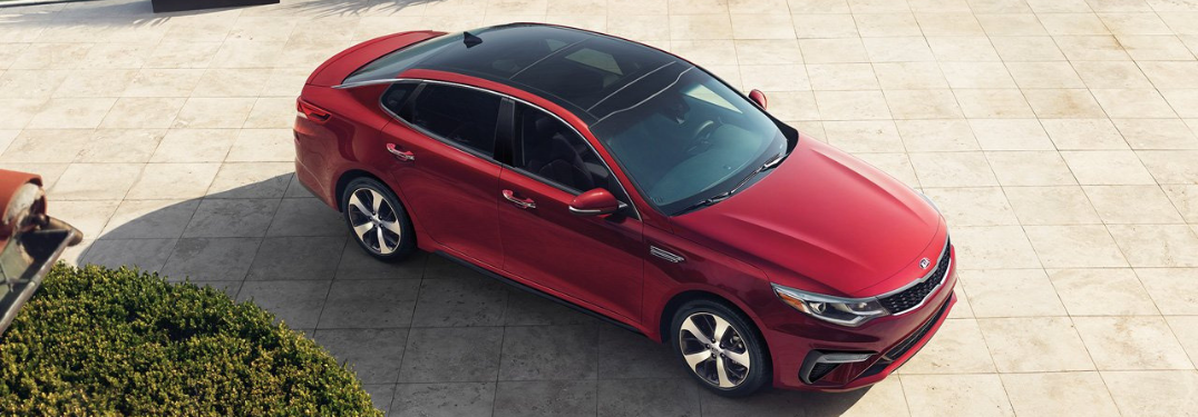 2019 Kia Optima parked outside top view representing 2020