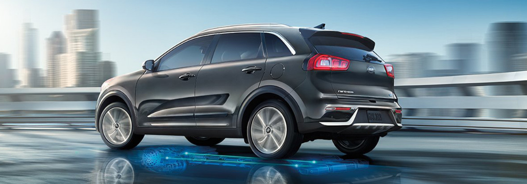 2019 Kia Niro driving on the road