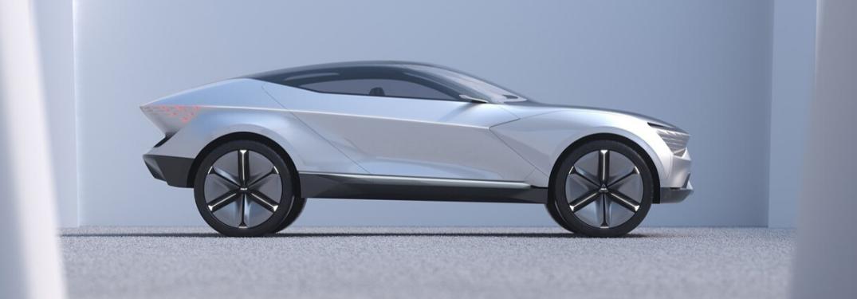 Kia Futuron parked in light grey