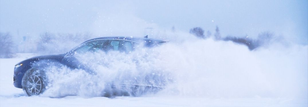Vehicle driving on snow and ice