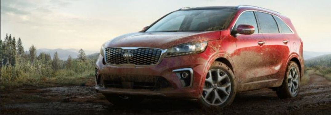2020 Kia Sorento driving on the mud