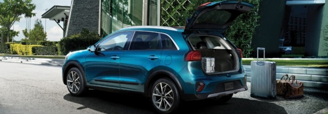 2020 Kia Niro rear side view rear door up