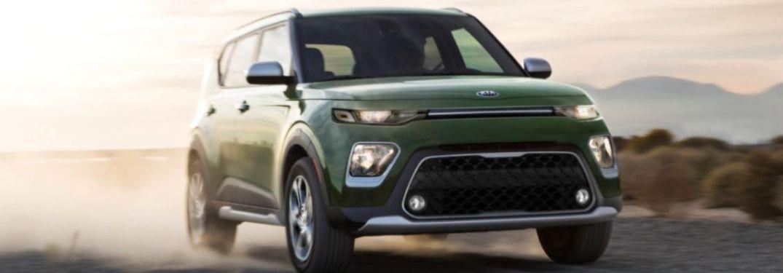 2021 Kia Soul driving front view