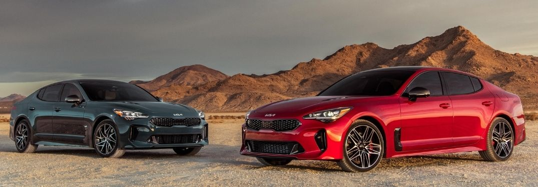 Two 2022 Kia Stingers parked together