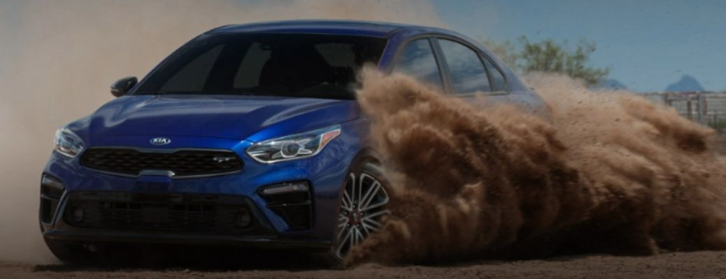 blue 2021 Kia Forte dirtracing. What are the technology features?