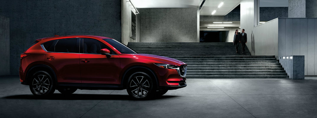 2017 Mazda CX-5 in front of a modern building