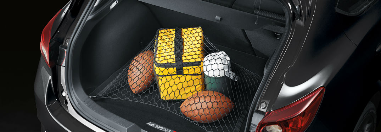 2018 mazda3 hatchback full of cargo and sports balls