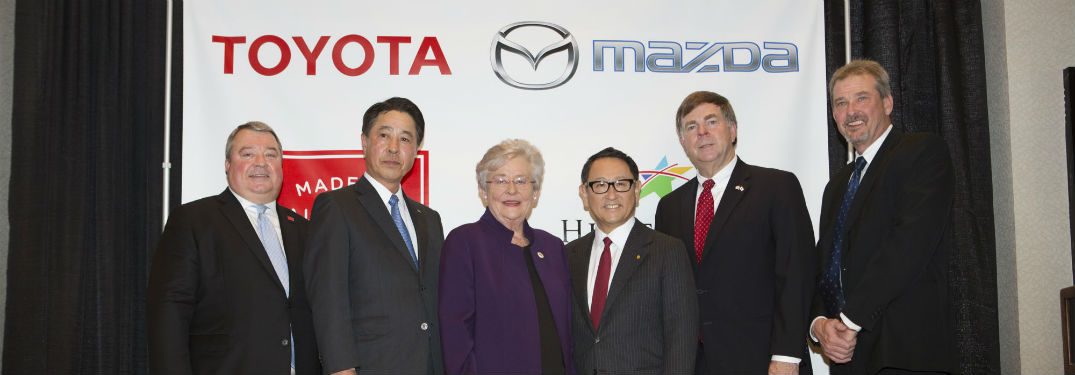 Elegant Mazda And Toyota Executives Posing For Photo Following Jan 2017 Partnership  Announcement