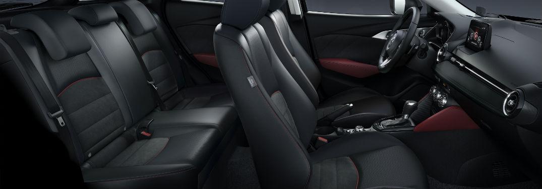 profile cutaway view of the interior of a 2018 Mazda CX-3