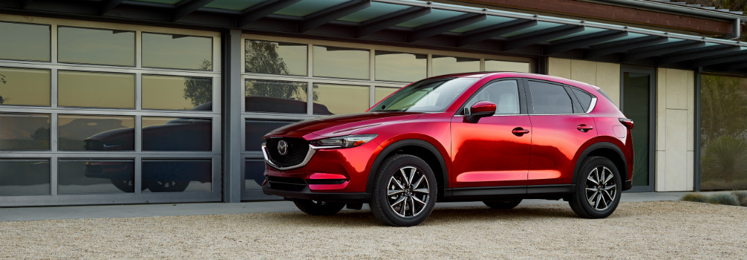 side view of red 2018 mazda cx-5