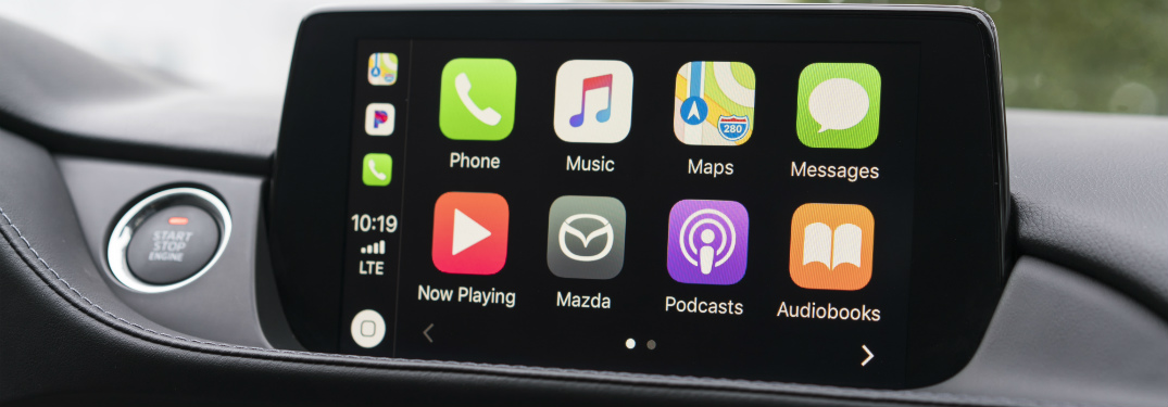 mazda6 infotainment system with apple carplay