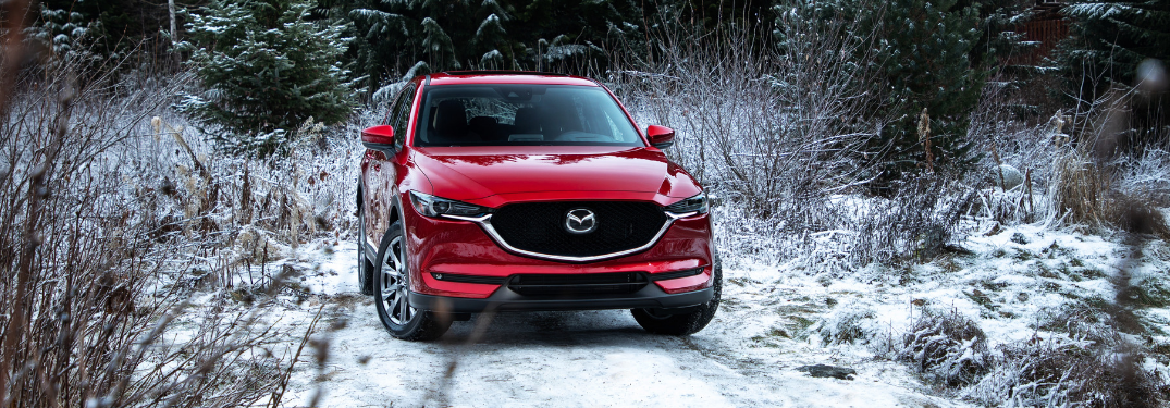 front view of red 2019 mazda cx-5