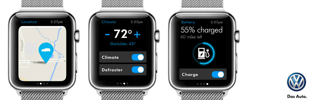 New VW Car-Net Application for the Apple Watch