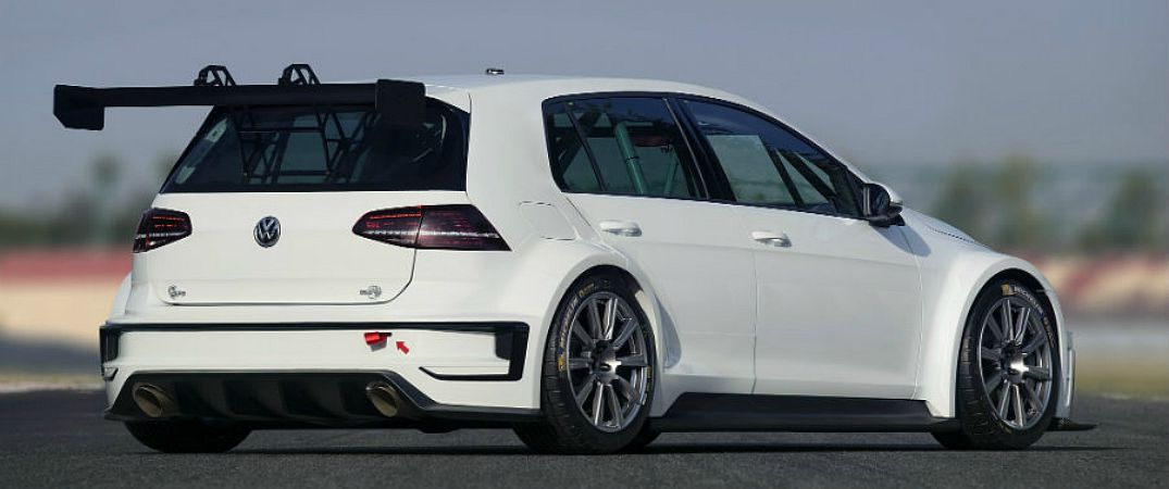 reveal of the Volkswagen Golf Race Car Concept