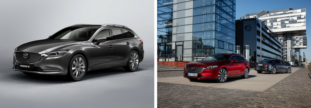 2018 Mazda6 Wagon collage of images exterior view