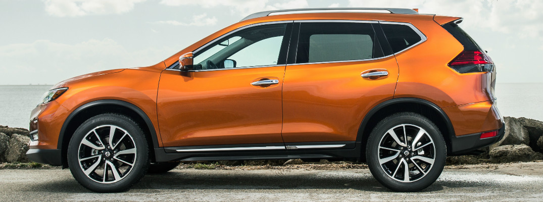 orange 2017 Nissan Rogue exterior side
