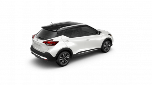 2018 Nissan KICKS in Aspen White and Super Black