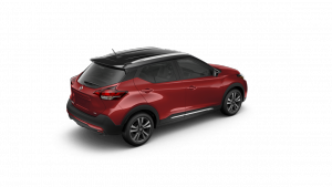 2018 Nissan KICKS in Cayenne Red and Super Black