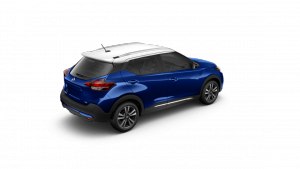 2018 Nissan KICKS in Deep Blue Pearl and Fresh Powder