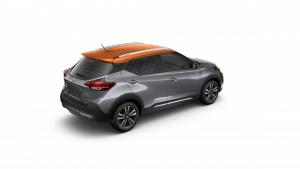 2018 Nissan KICKS in Gun Metallic and Monarch Orange