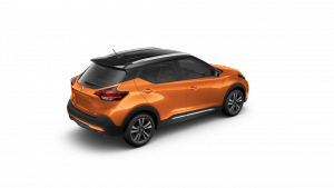 2018 Nissan KICKS in Monarch Orange and Super Black