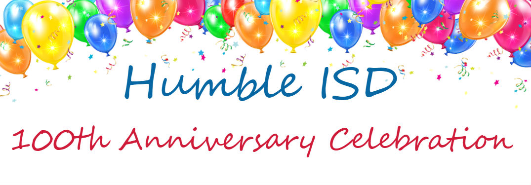 Robbins Nissan Sponsors Humble ISD 100th Anniversary Celebration with image of balloons and confetti