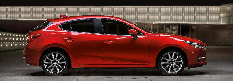 red mazda3 hatchback