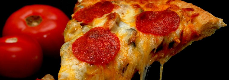 very cheesy pepperoni pizza