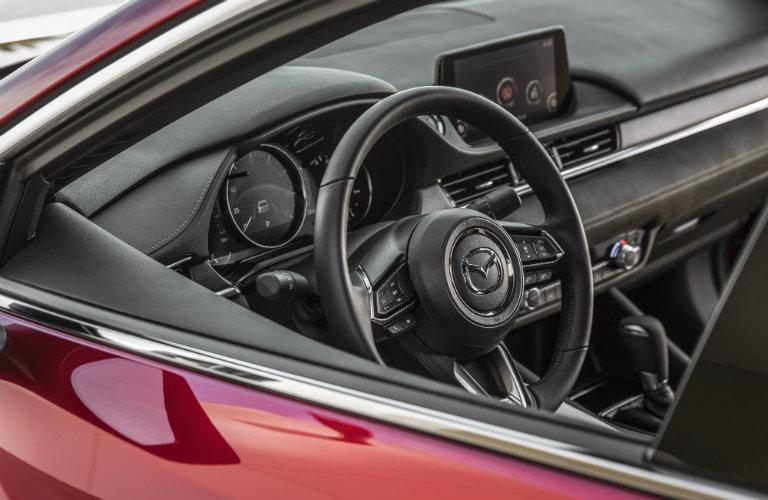 mazda six interior, steering wheel