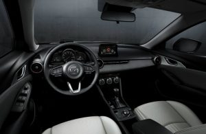 front seats and dash of mazda cx-3