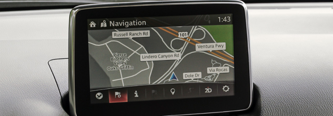Mazda Connect primary display