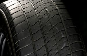 closeup of tire tread