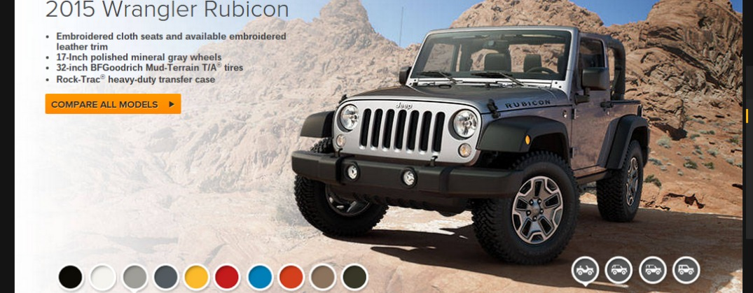 Jeep Wrangler trim levels and colors
