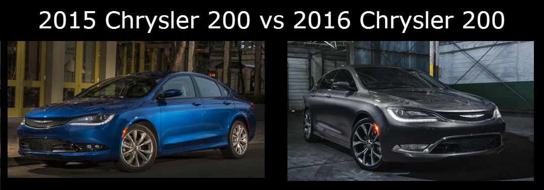 2015 Chrysler 200 vs 2016 Chrysler 200
