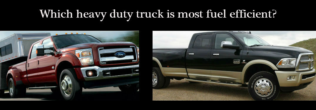 2015 Ram 3500 vs 2015 Ford F-350 mileage