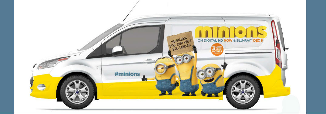 Minionwagon Ford Transit Connect