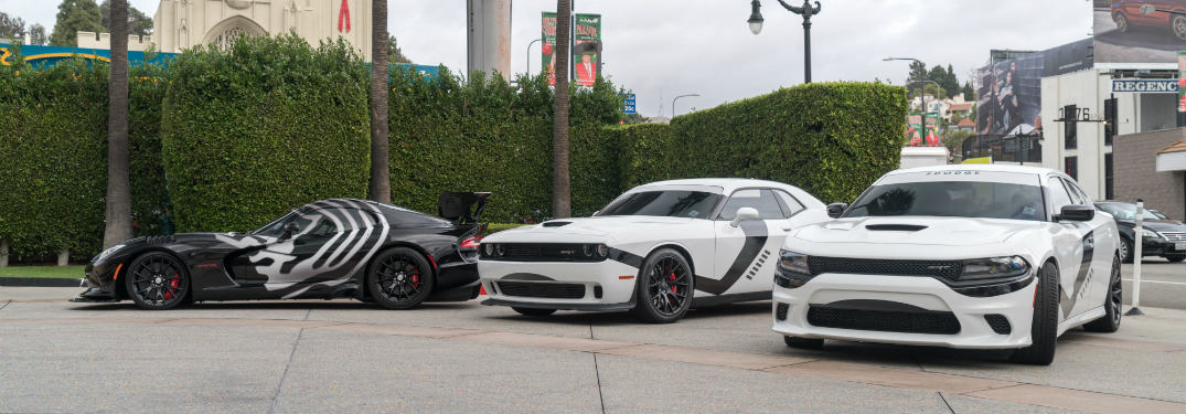 Star Wars themed Dodge muscle cars in LA