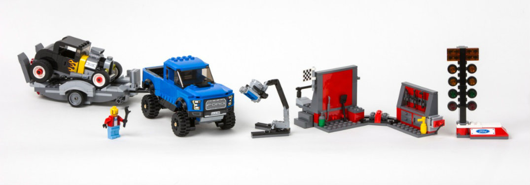 Ford Raptor and Ford Mustang LEGO Sets
