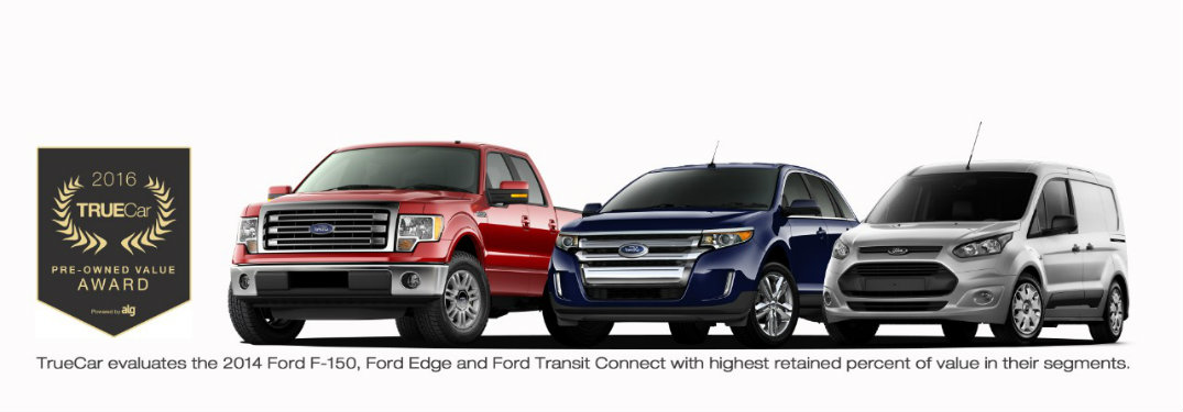 Ford Vehicles Win TrueCar Retained Value Recognition