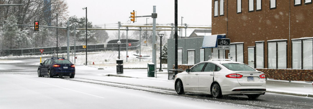 Ford Autonomous Vehicle Snow Driving