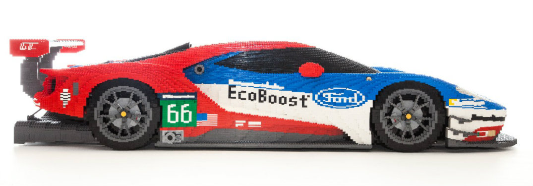 Where can you see the LEGO Ford GT