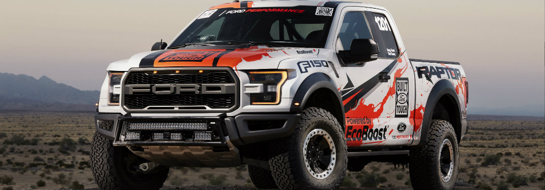 Images of the 2017 Ford F-150 Raptor race truck