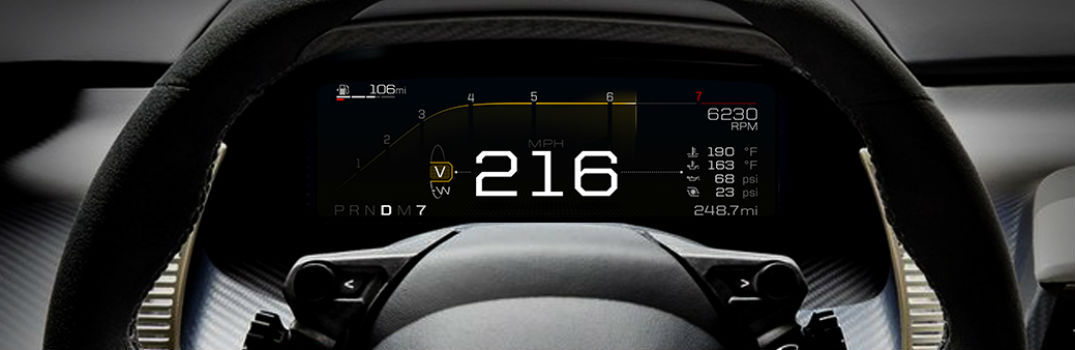 2018 Ford GT Features Dashboard of the Future_o