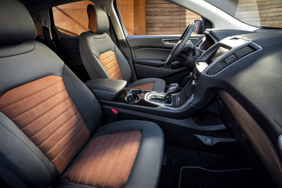 Ford Edge Sel Sport Appearance Package Front Interior Passenger Space_o Akins Ford