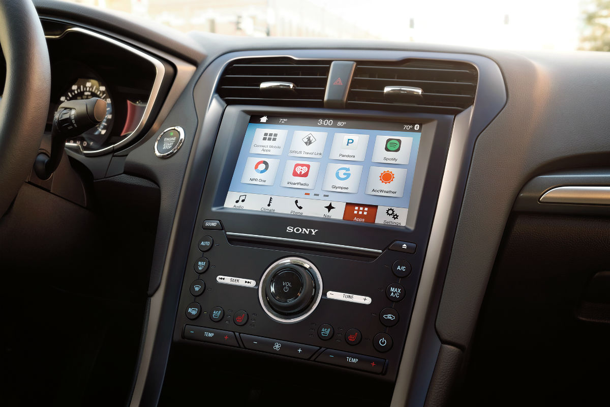 2018 ford fusion front interior infotainment system o