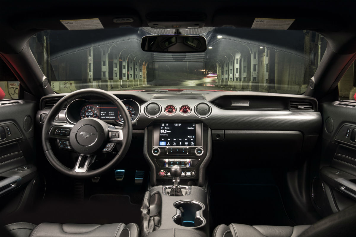 Driver Dash Of A  Ford Mustang With The Performance Pack Level _o Akins Ford