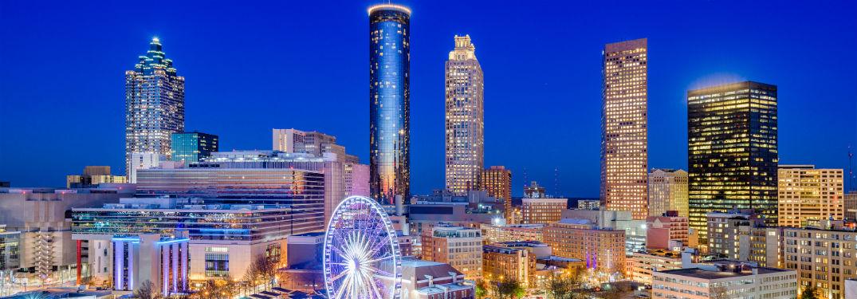 animated rendering of the Atlanta skyline