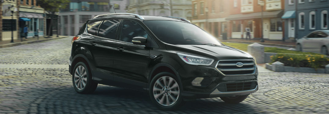 side view of a black 2019 Ford Escape
