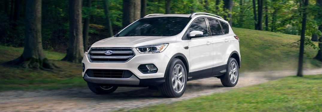 side view of a white 2019 Ford Escape